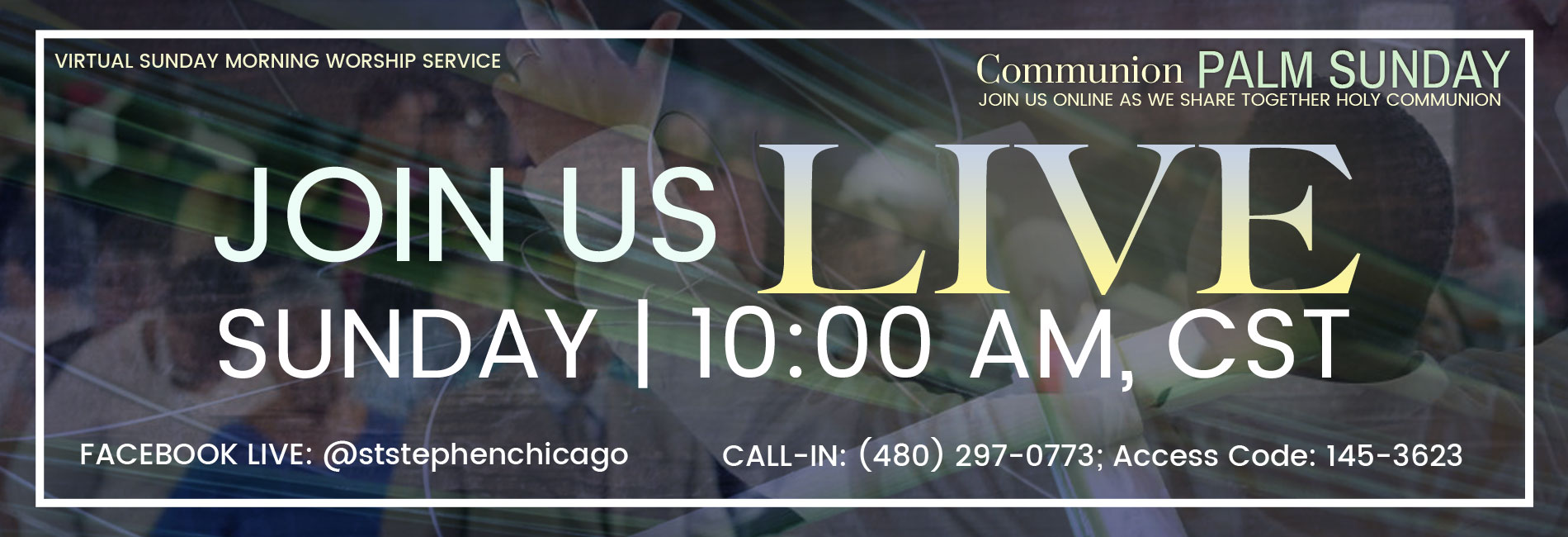 Online Communion Palm Sunday